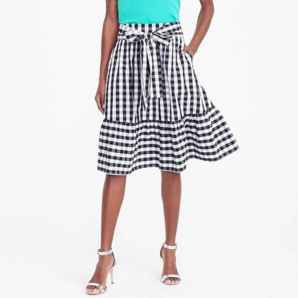 ebcfb6a5a3 J. Crew Factory Dresses & Skirts - J. Crew Factory Tie Waist Gingham Skirt